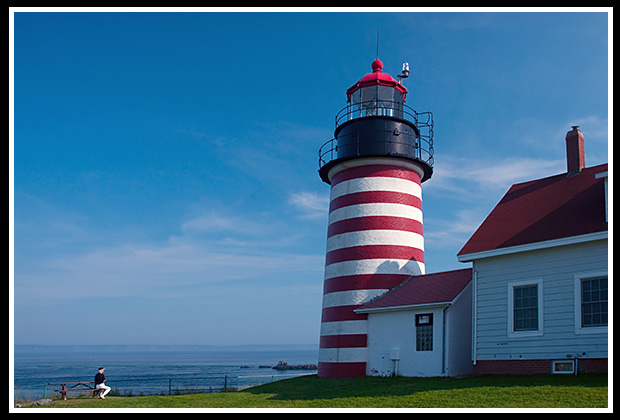 West Quoddy Head lighthouse in Maine